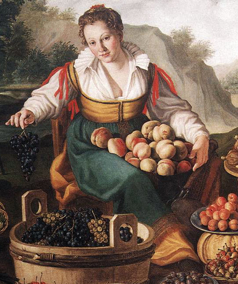 Food on the Vincenzo Campi's paintings