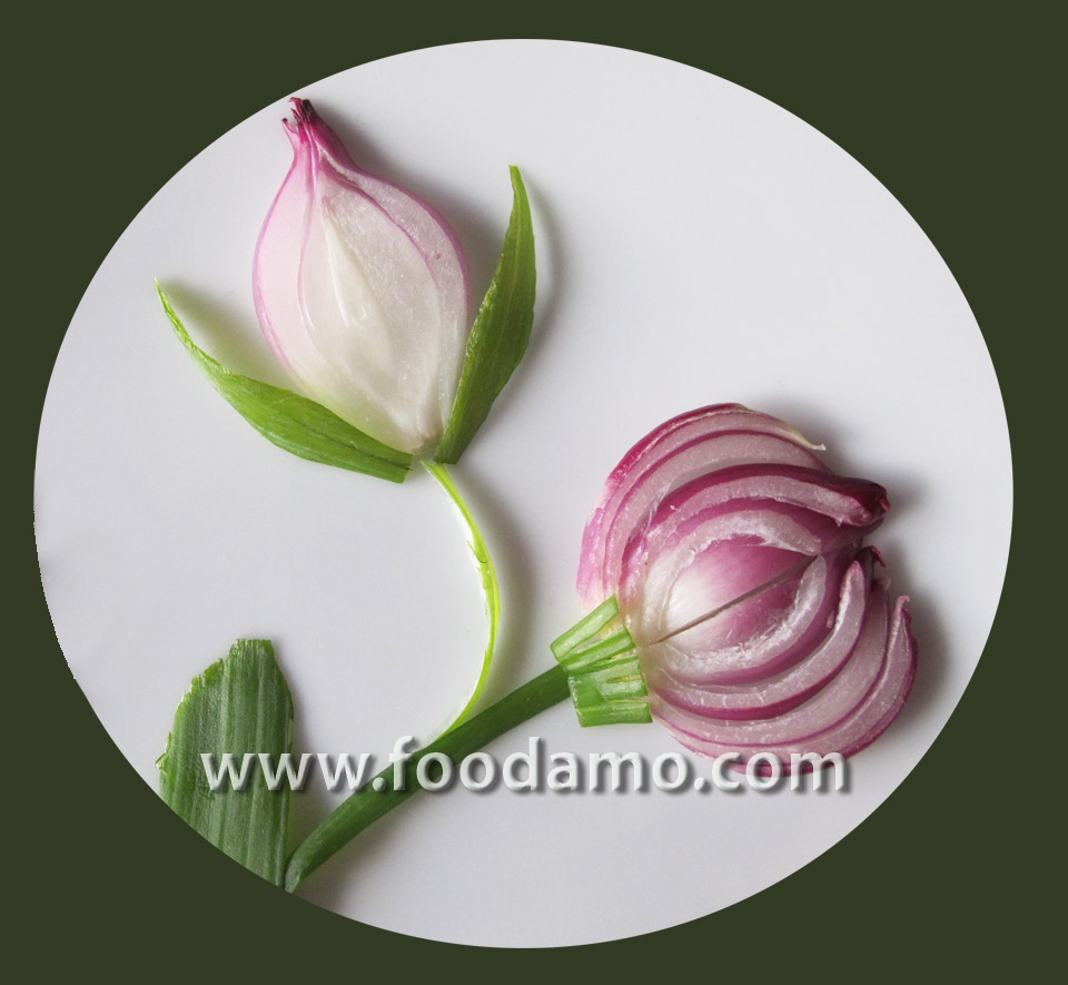 Food art: Onion Fantasy by Tania Gor