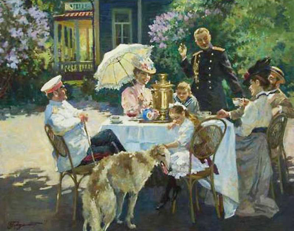 Art of drinking tea in Russia