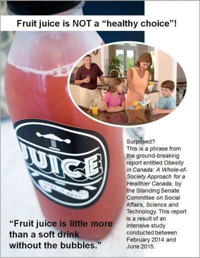 "Fruit juice is NOT a ""healthy choice""!"