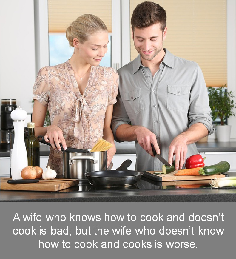 who knows how to cook